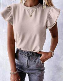 Tričko - kód 6215 - bežová