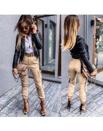 Kalhoty - kód 091 - 1 - bežová