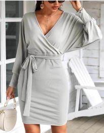 Šaty - kód 1197 - šedá