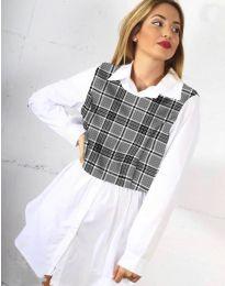 Košile - kód 9990 - 4 - bílá