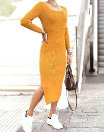 Šaty - kód 2326 - hořčičná