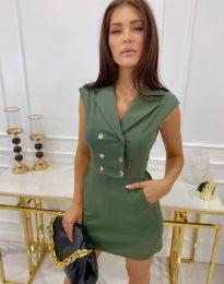 Šaty - kód 9265 - olivová  zelená