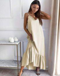 Šaty - kód 4671 - bežová
