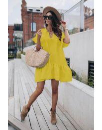 Šaty - kód 6868 - žlutá