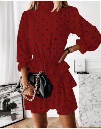 Šaty - kód 3665 - červená