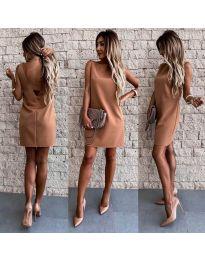 Šaty - kód 1156 - hněda