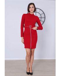 Šaty - kód 2053 - 3 - červená