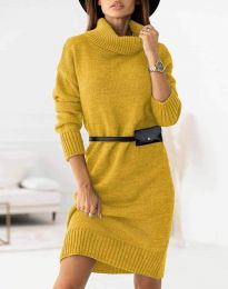 Šaty - kód 0393 - hořčičná