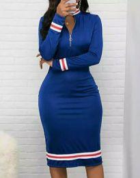 Šaty - kód 3565 - 2 - modrá