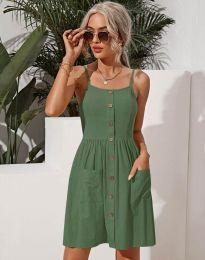 Šaty - kód 6271 - olivově zelená