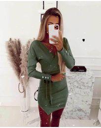 Šaty - kód 2077 - olivová  zelená