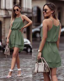 Šaty - kód 2104 - olivově zelená