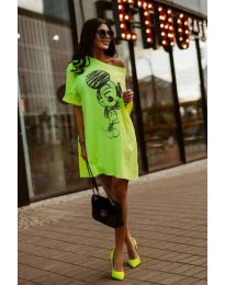 Šaty - kód 3352 - neon zelena