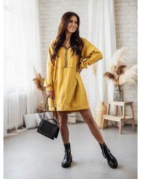 Šaty - kód 6113 - hořčičná
