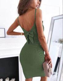 Šaty - kód 0987 - olivová  zelená