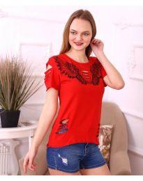 Tričko - kód 3568 - červená