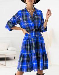 Šaty - kód 6842 - modrý