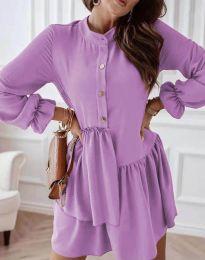 Šaty - kód 2829 - světle fialová