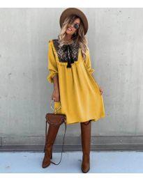 Šaty - kód 958 - hořčičná