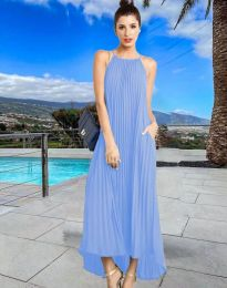 Šaty - kód 6999 - světle modrá