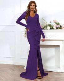 Šaty - kód 0574 - 3 - tmavě fialová