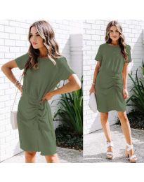 Šaty - kód 835 - olivová  zelená
