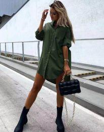 Šaty - kód 7589 - olivově zelená