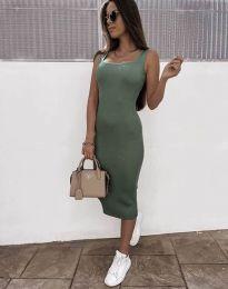 Šaty - kód 5964 - olivově zelená
