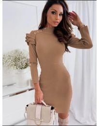 Šaty - kód 2915 - 1 - hnědý