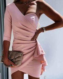 Šaty - kód 5543 - růžová