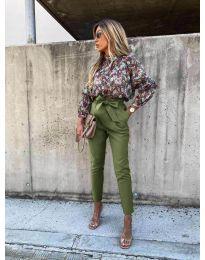 Kalhoty - kód 788 - olivová  zelená