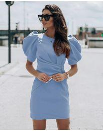 Šaty - kód 9438 - světle modrá