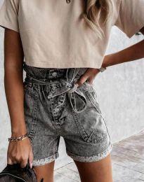 Krátké kalhoty - kód 4525 - 1 - šedá