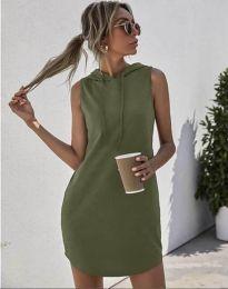 Šaty - kód 1687 - olivově zelená