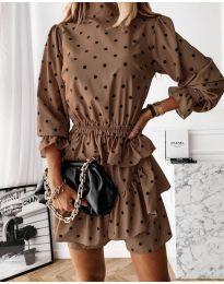 Šaty - kód 3665 - hněda