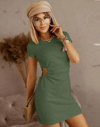 Šaty - kód 8556 - olivová  zelená