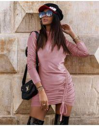Šaty - kód 9545 - růžová