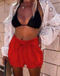 Krátké kalhoty - kód 0320 - 4 - červená