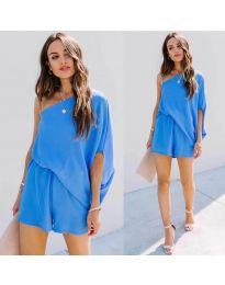 Šaty - kód 9933 - modrá