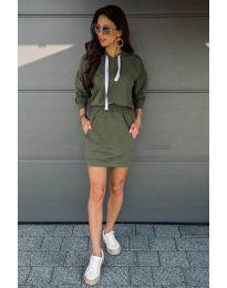 Šaty - kód 999 - olivová  zelená