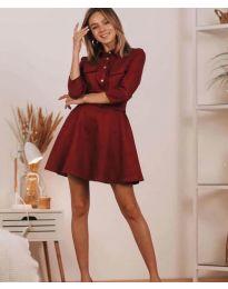 Šaty - kód 6619 - bordeaux