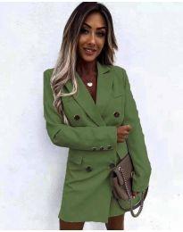 Šaty - kód 5889 olivově zelená