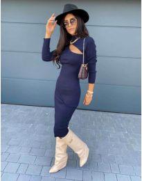 Šaty - kód 5469 - 1  tmavě modrá