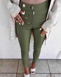 Kalhoty - kód 1874 - olivová  zelená