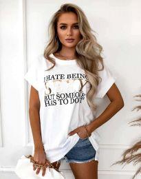 Tričko - kód 4578 - bílá