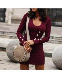 Šaty - kód 4516 - bordeaux