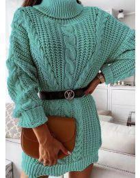 Šaty - kód 6071 - tyrkysový