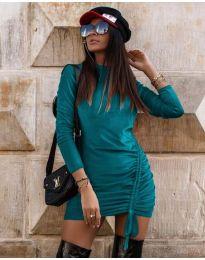 Šaty - kód 9545 - tyrkysový
