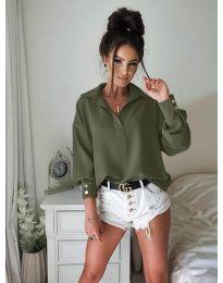 Košile - kód 9898 - olivová  zelená