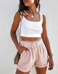 Krátké kalhoty - kód 8164 - světle růžová